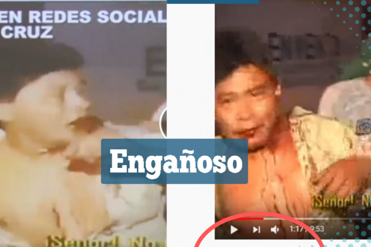 Las capturas del video antiguo y el que mostró el Vicepresidente.