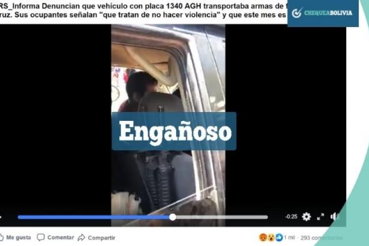 Una captura del video que circula en redes sociales.