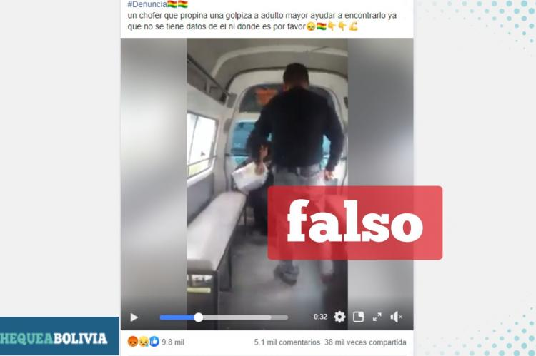 Captura del video que circula en Facebook.