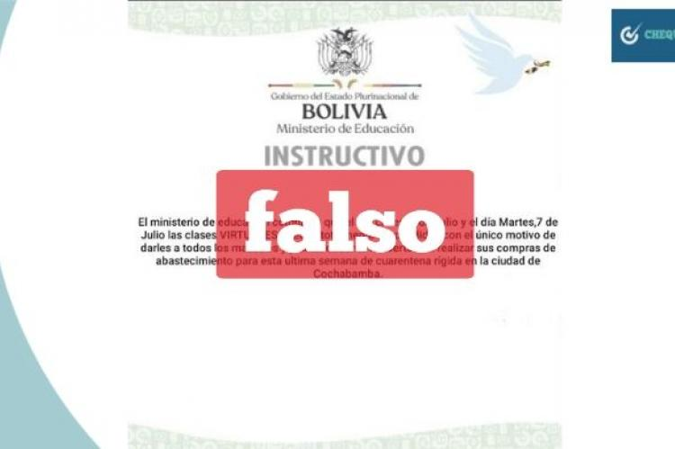 Captura del instructivo falso que circula en redes sociales.