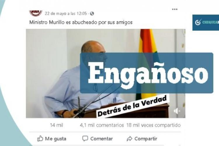 Una captura del video que circula en grupos de Facebook.