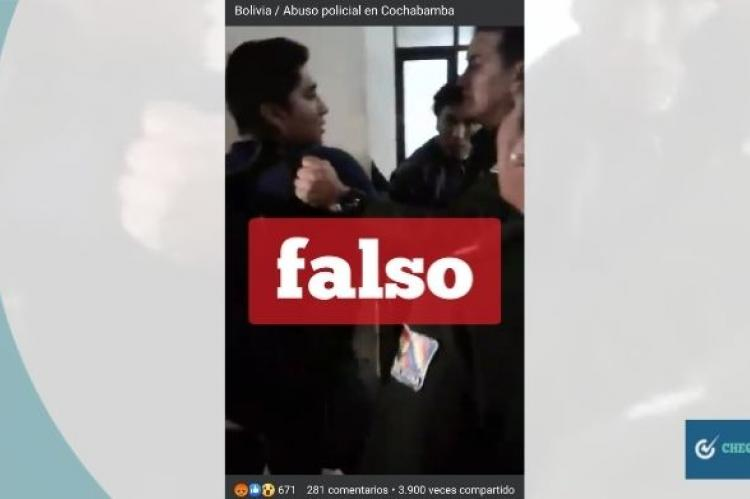 Captura del video que se comparte en Facebook.