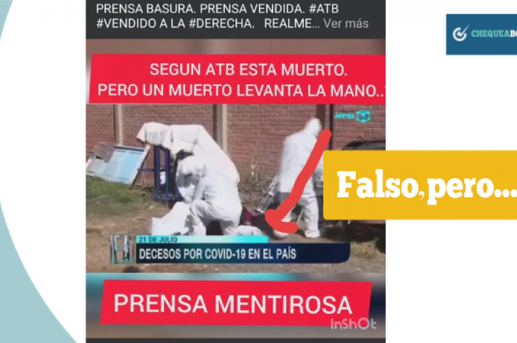 Captura del video que se compartió por la red social Facebook.