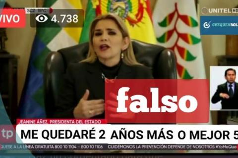 Captura de la noticia falsa que se atribuye a la red Unitel.