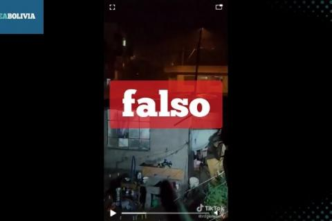 Una captura del video que circula en WhapsApp.