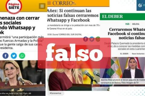 Una captura de las tres capturas falsas que circulan en Facebook.