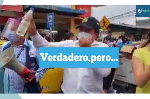 Captura del video de Ecuador que se comparte por Facebook en Bolivia.