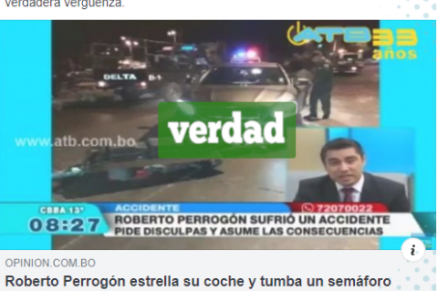 Noticia que circula en Facebook