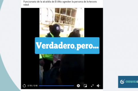 Una captura del video  que se comparte en Facebook.