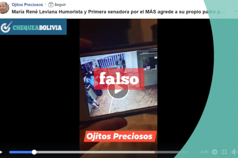 El video falso que es compartido en las redes sociales.