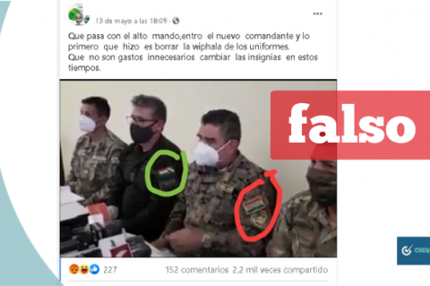 Captura de la noticia que circula en Facebook
