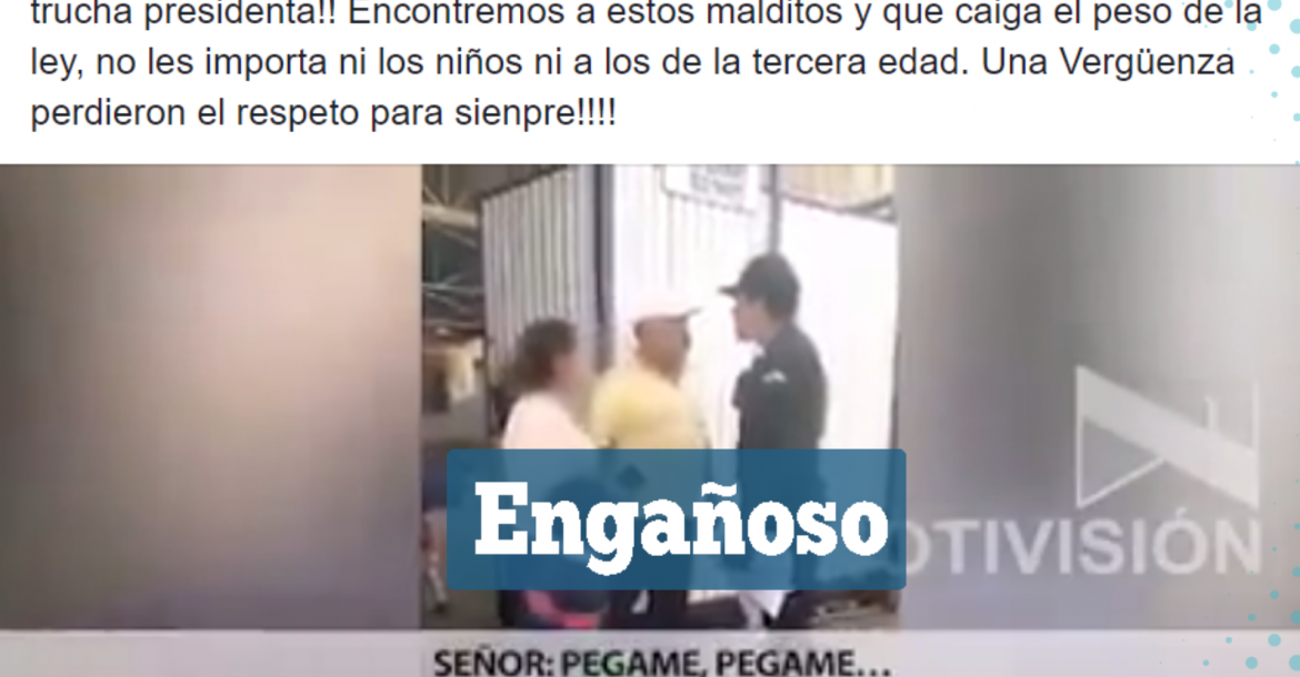 Una captura del video que circula en Facebook.