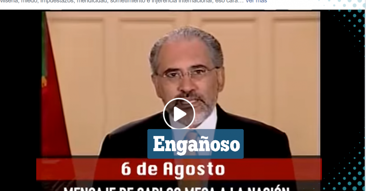 Una captura del video que se viralizó en Facebook.
